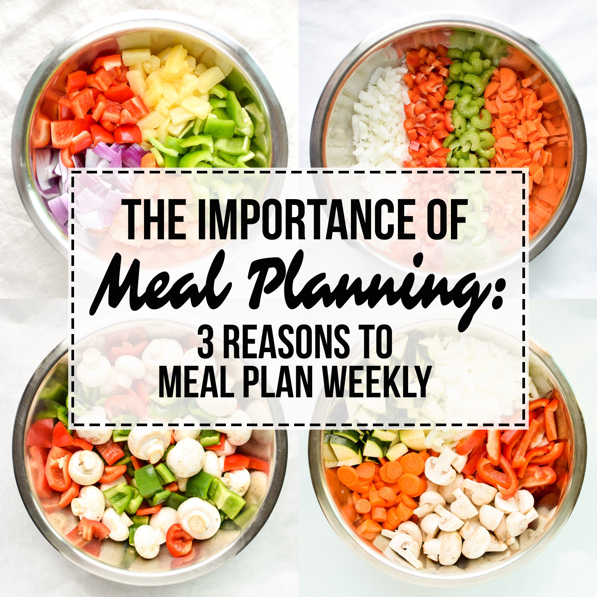 The Importance of Meal Planning: 3 Reasons to Meal Plan Weekly - It's all about that time, money, and our health of course! Here's a few good arguments for meal planning from ProjectMealPlan.com