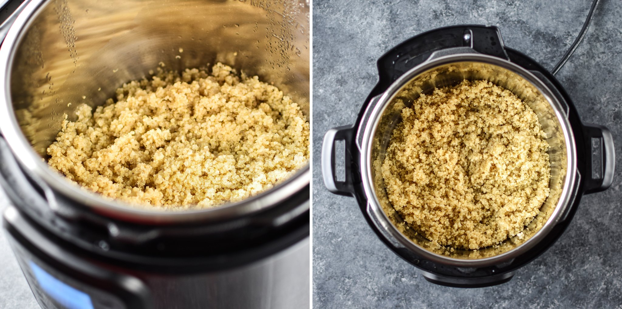 Cooking quinoa in the Instant Pot.