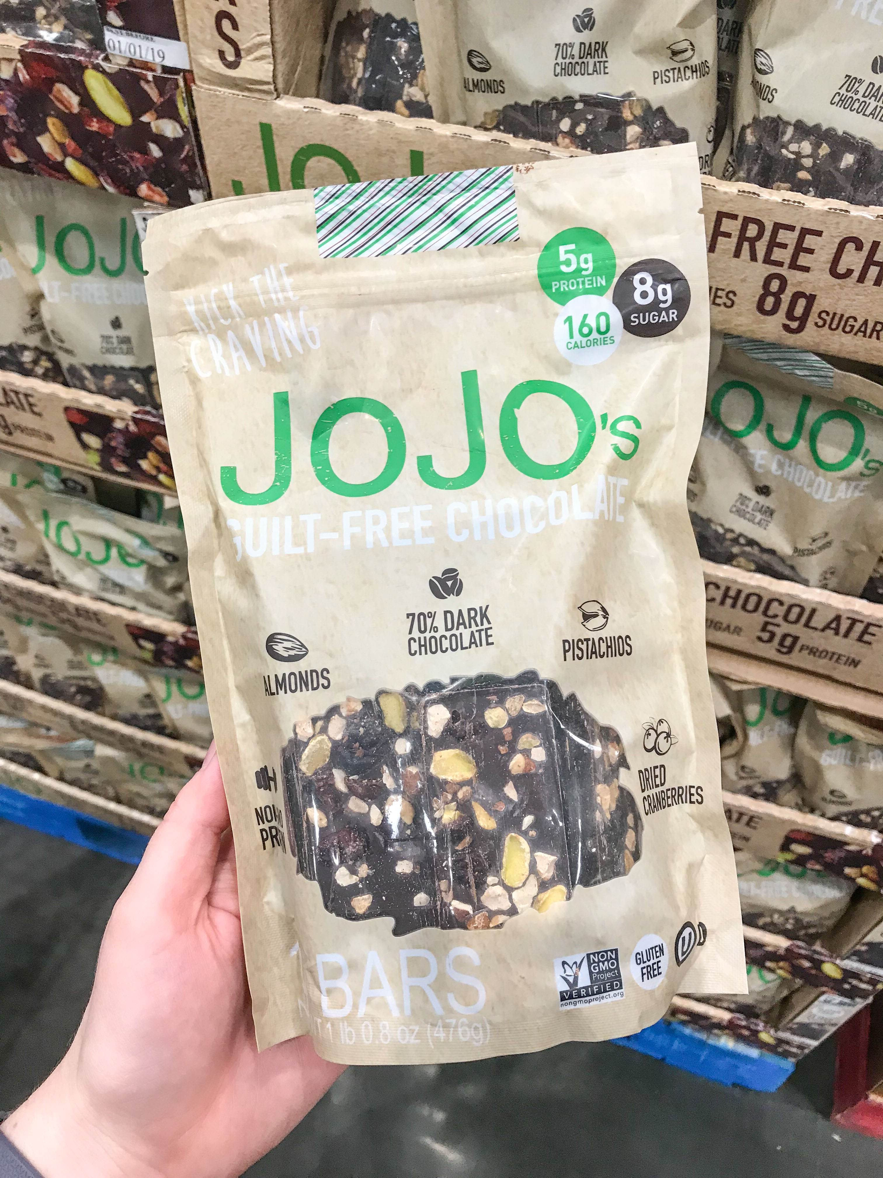 Jojo's chocolate on the list of 10 best healthy ish snacks to buy at costco
