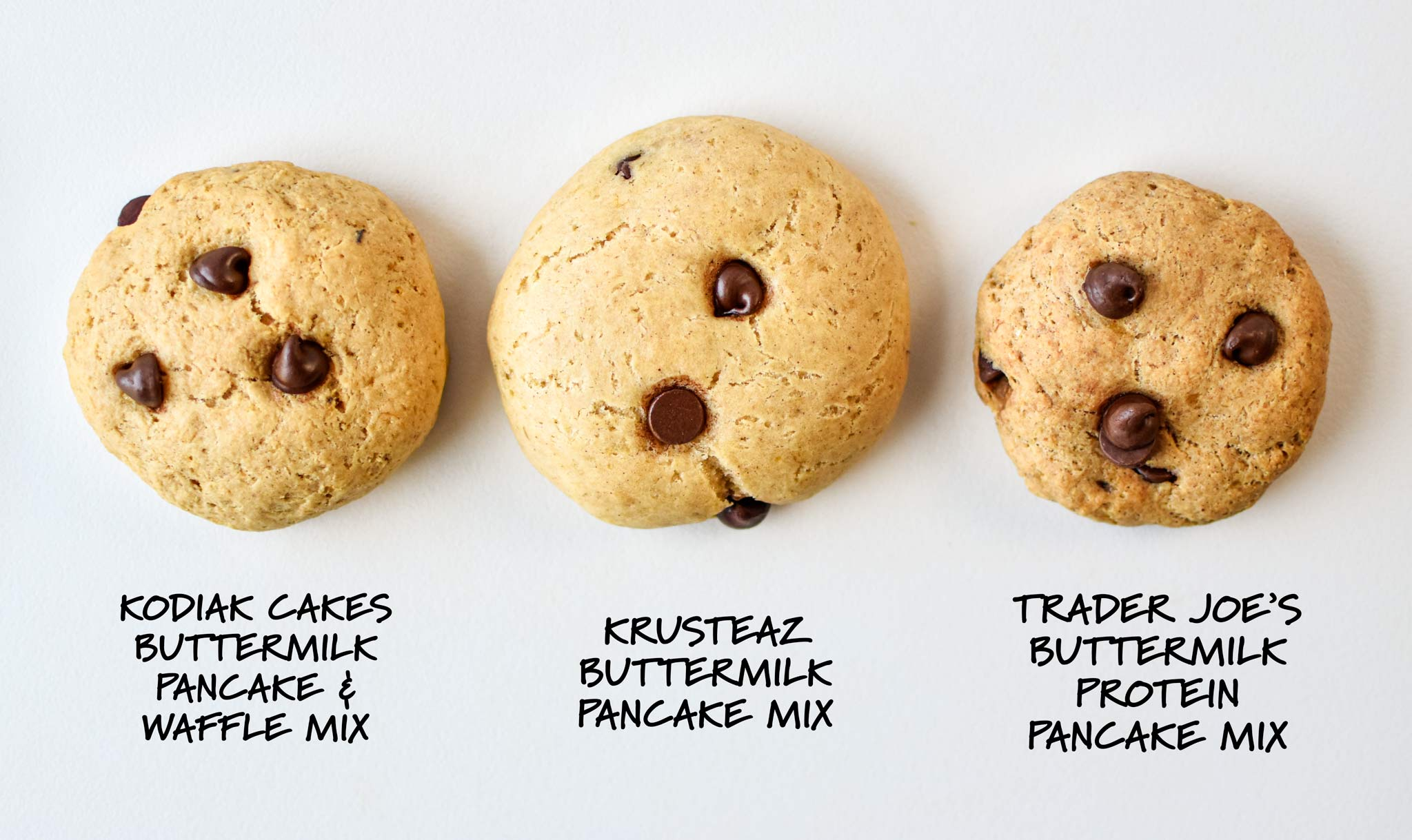 pancake mix cookies made with different kinds of pancake mix