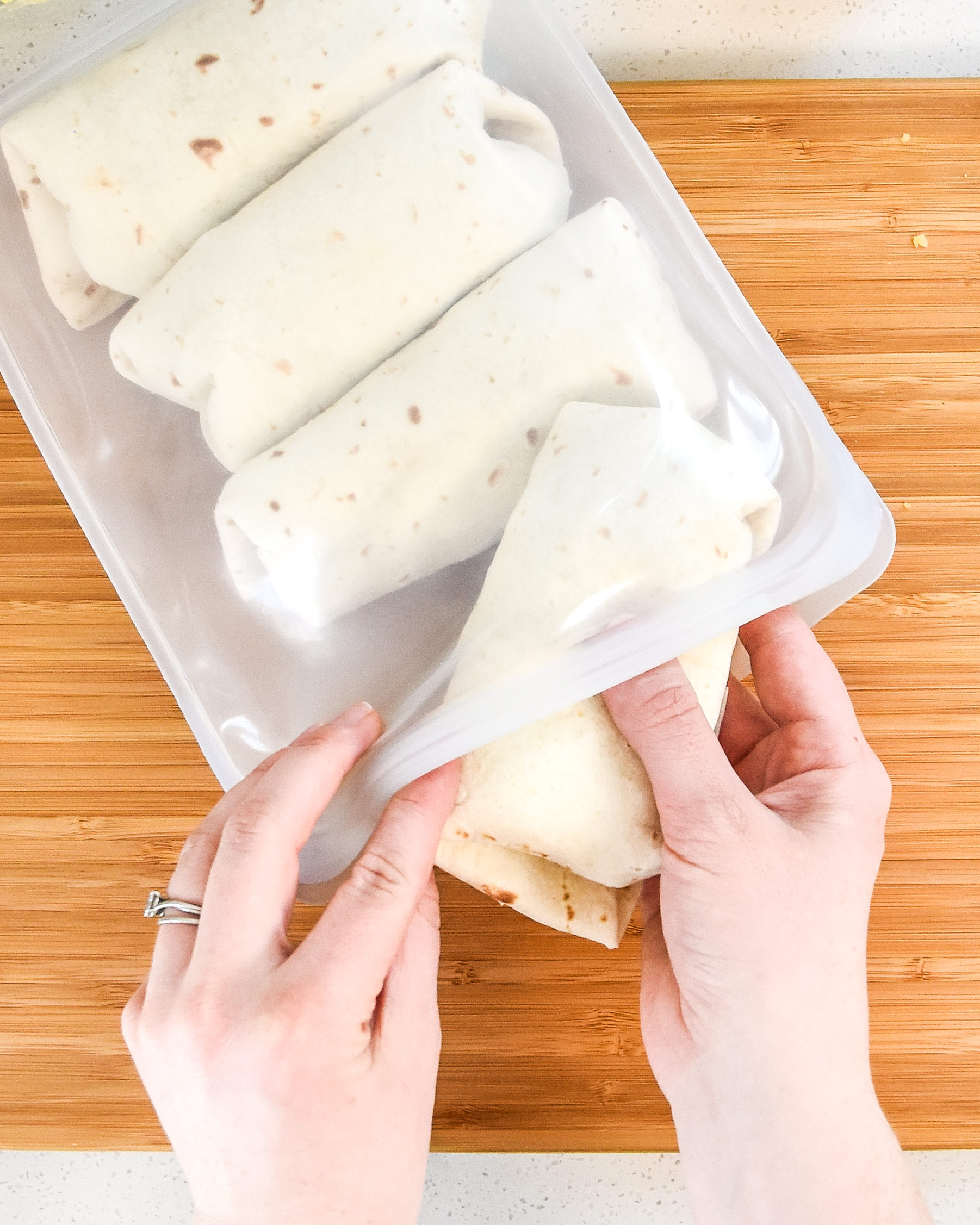 freezing breakfast burritos for later